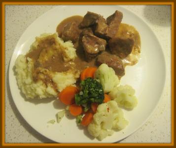 receta de carne con champinones